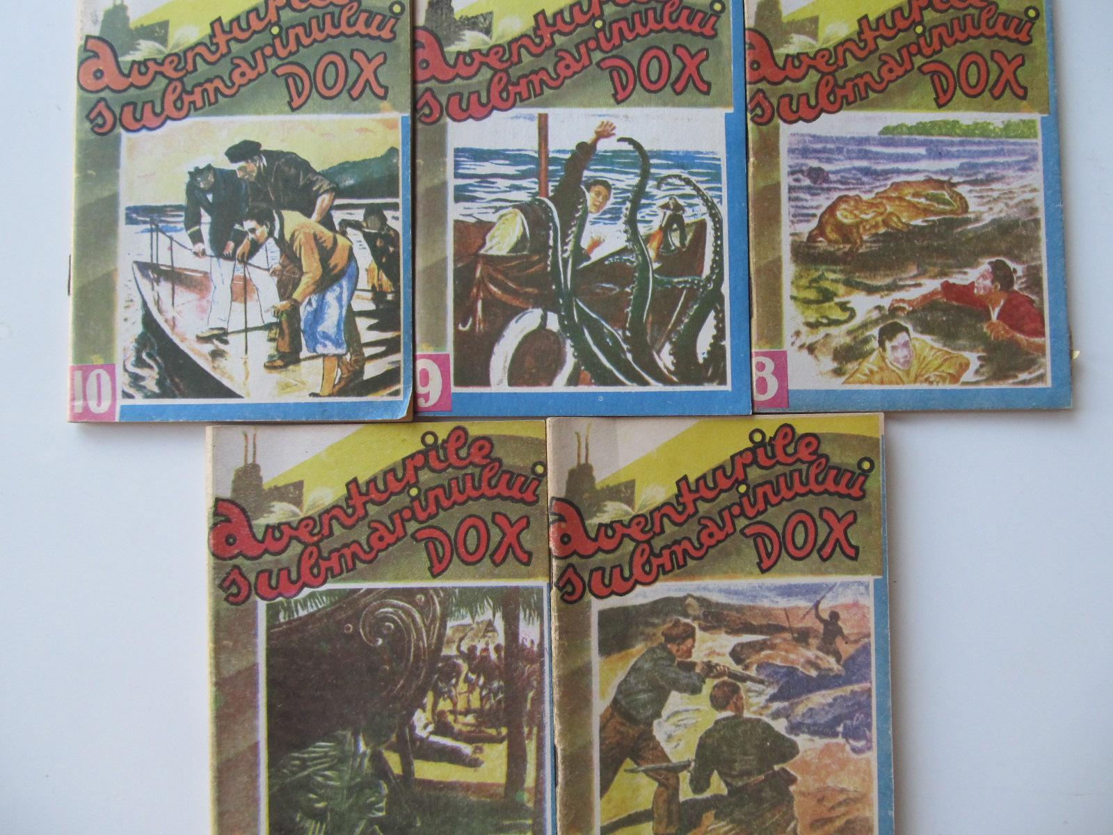 Aventurile submarinului Dox (6) , (7) , (8) , (9) , (10) - 5 numere - Henry Warren | Detalii carte