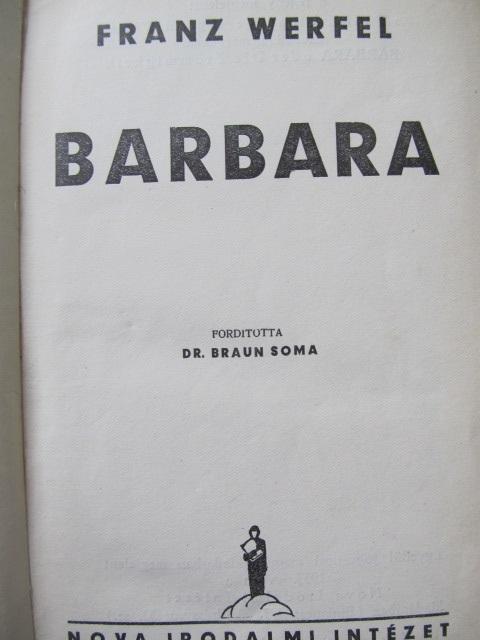 Carte Barbara (lb. maghiara) - Franz Werfel