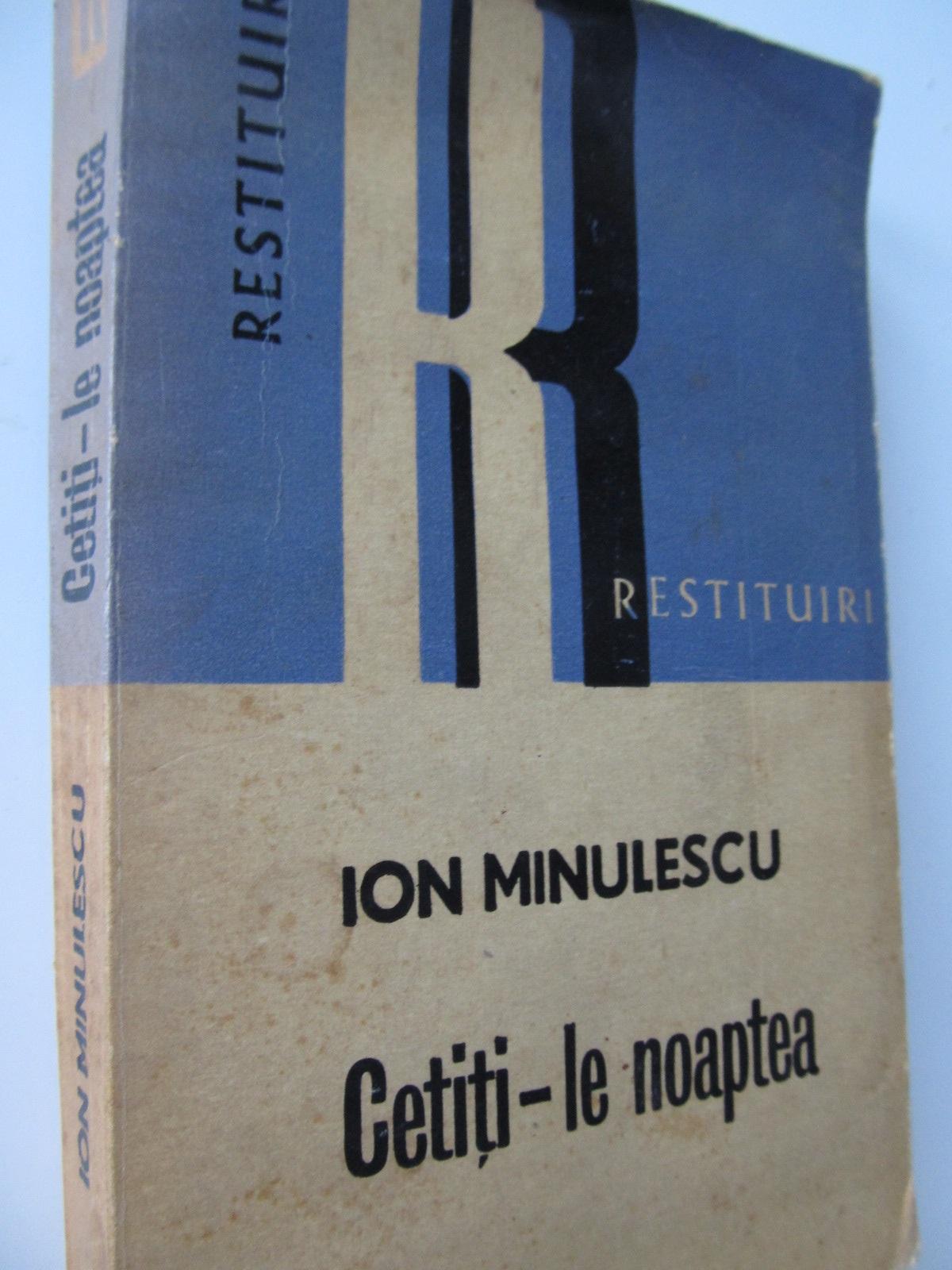 Carte Cetiti-le noaptea - Ion Minulescu
