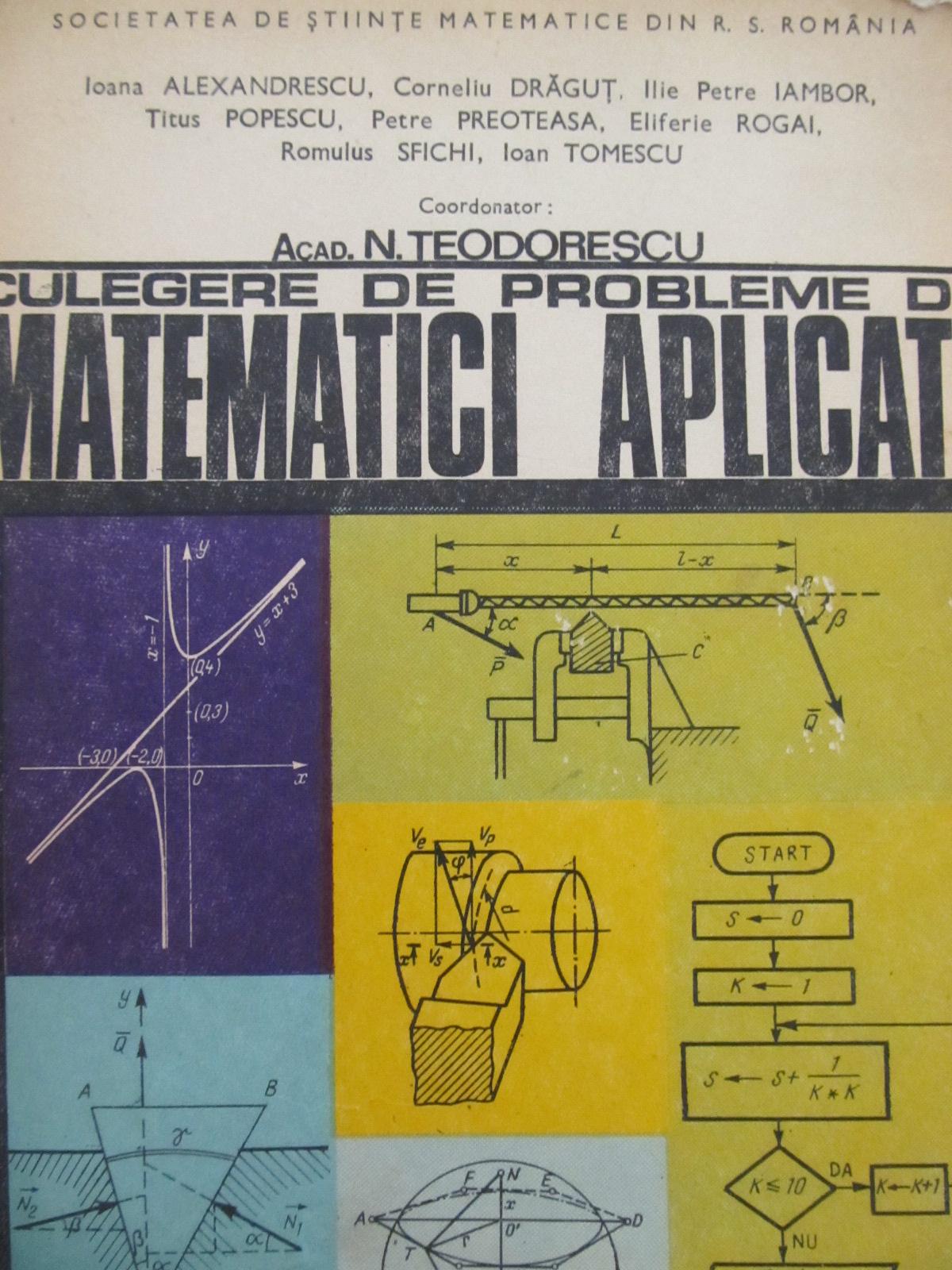 Culegere de probleme de matematici aplicate - N. Teodorescu | Detalii carte