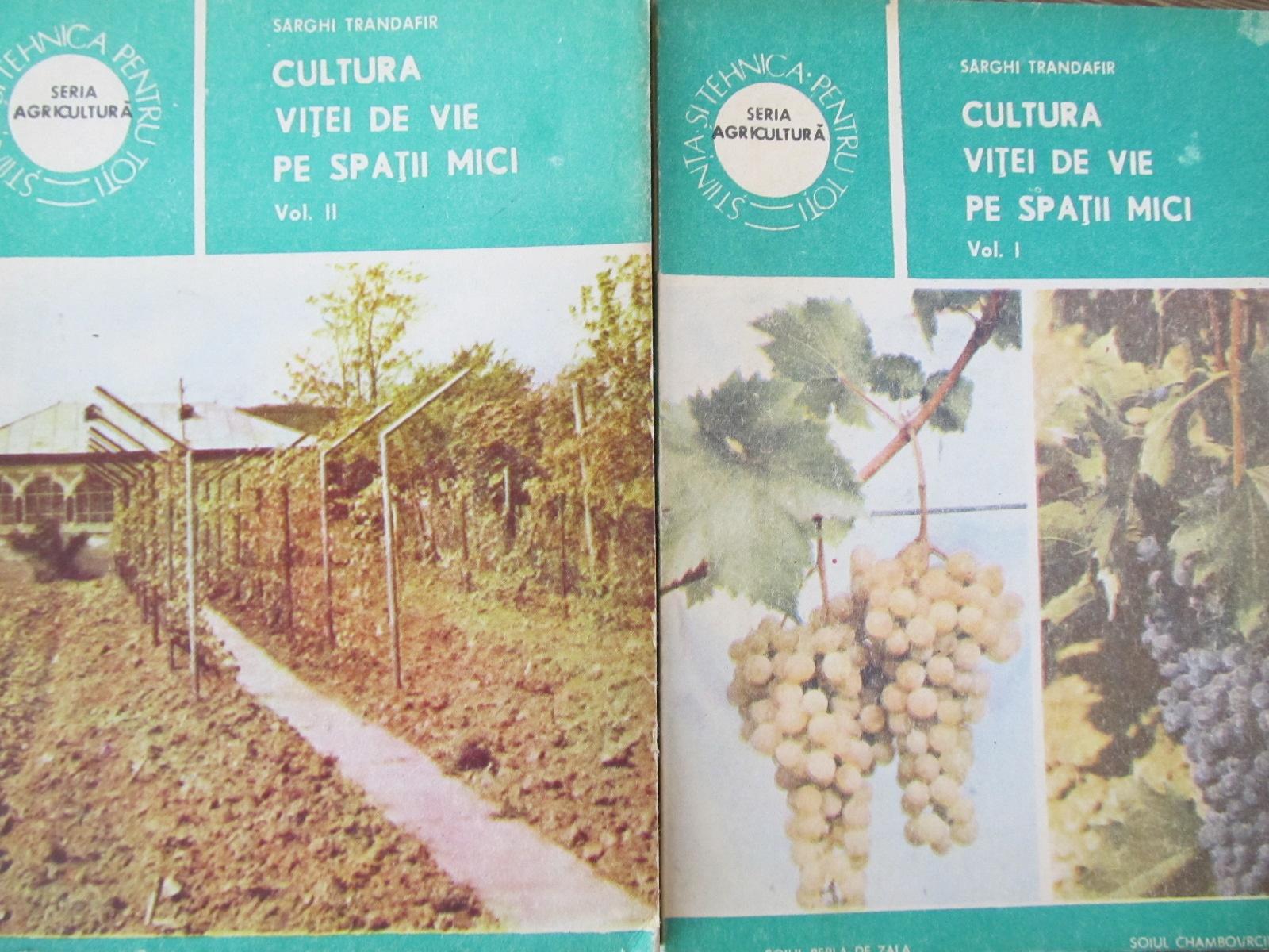 Cultura vitei de vie pe spatii mici (2 vol.) - Sarghi Trandafir | Detalii carte