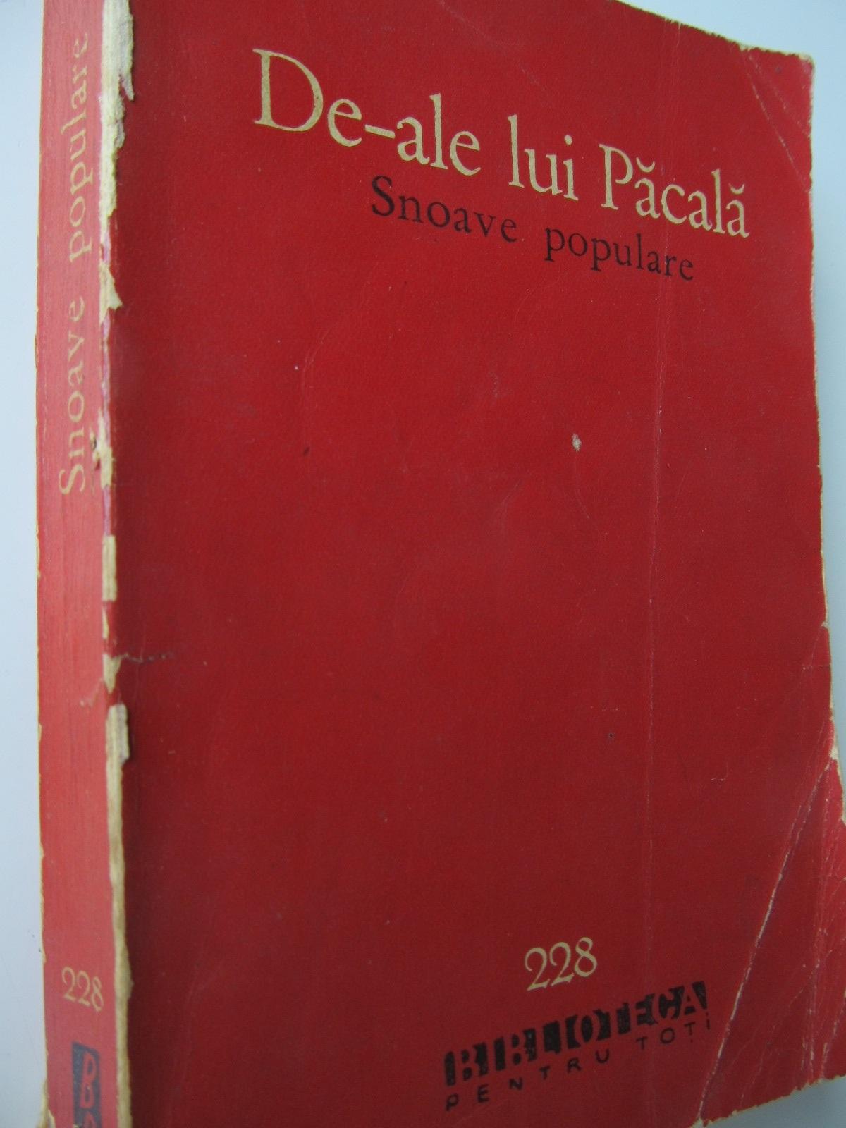 De-ale lui Pacala - Snoave populare - *** | Detalii carte
