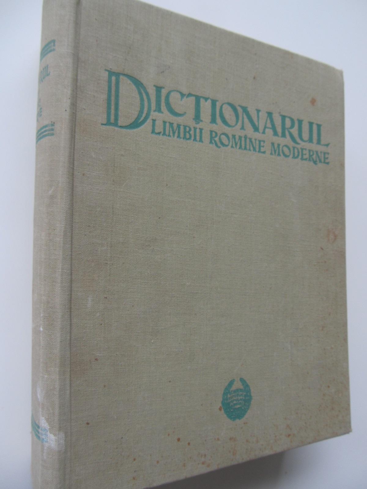 Dictionarul limbii romane moderne - D. Macrea , ... | Detalii carte