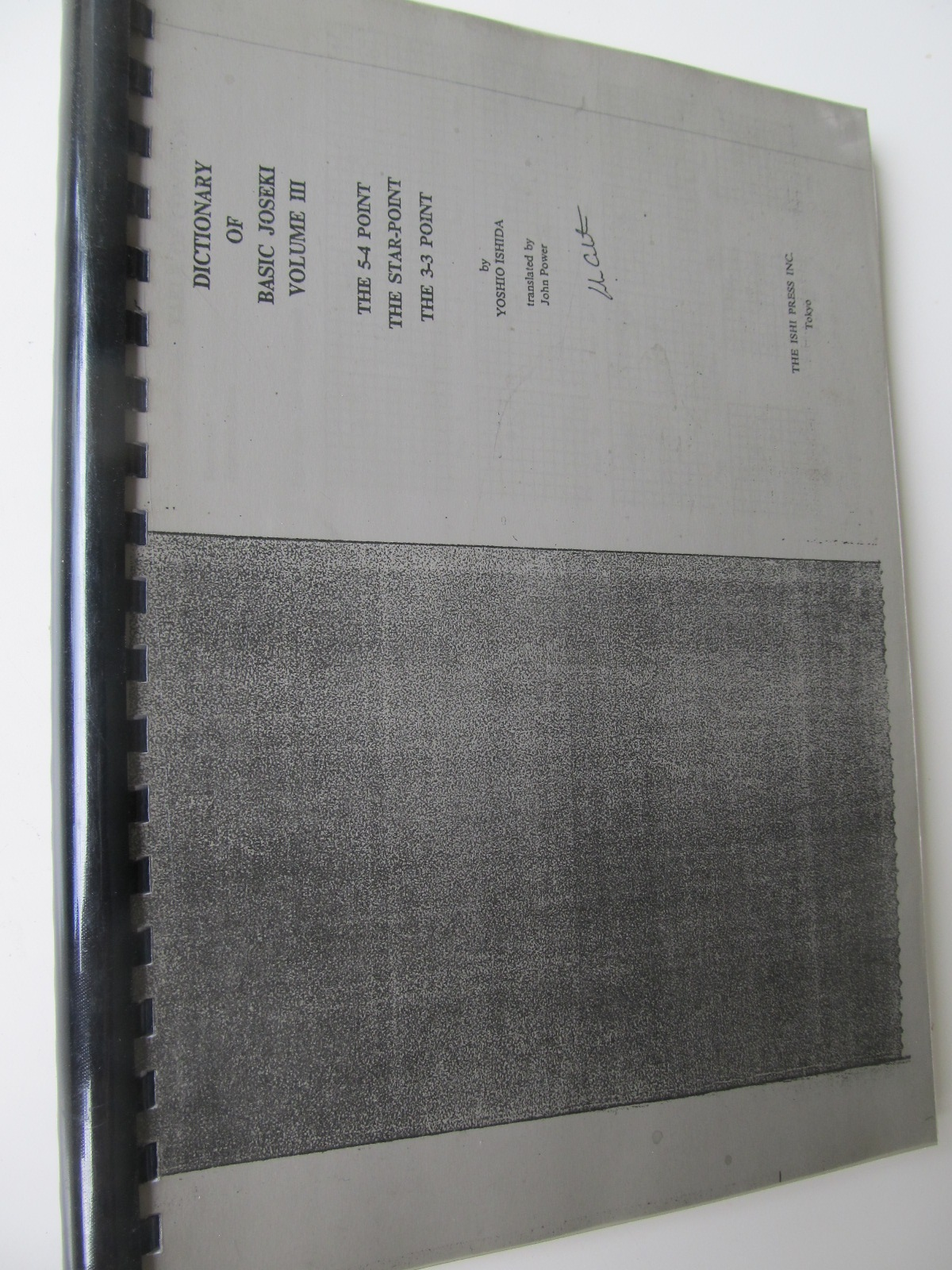 Dictionary of basic Joseki , Vol. 3 - The 5-4 point , The star-point , the 3-3 point (Carte de Go xeroxata) - Yosihio Ishida | Detalii carte