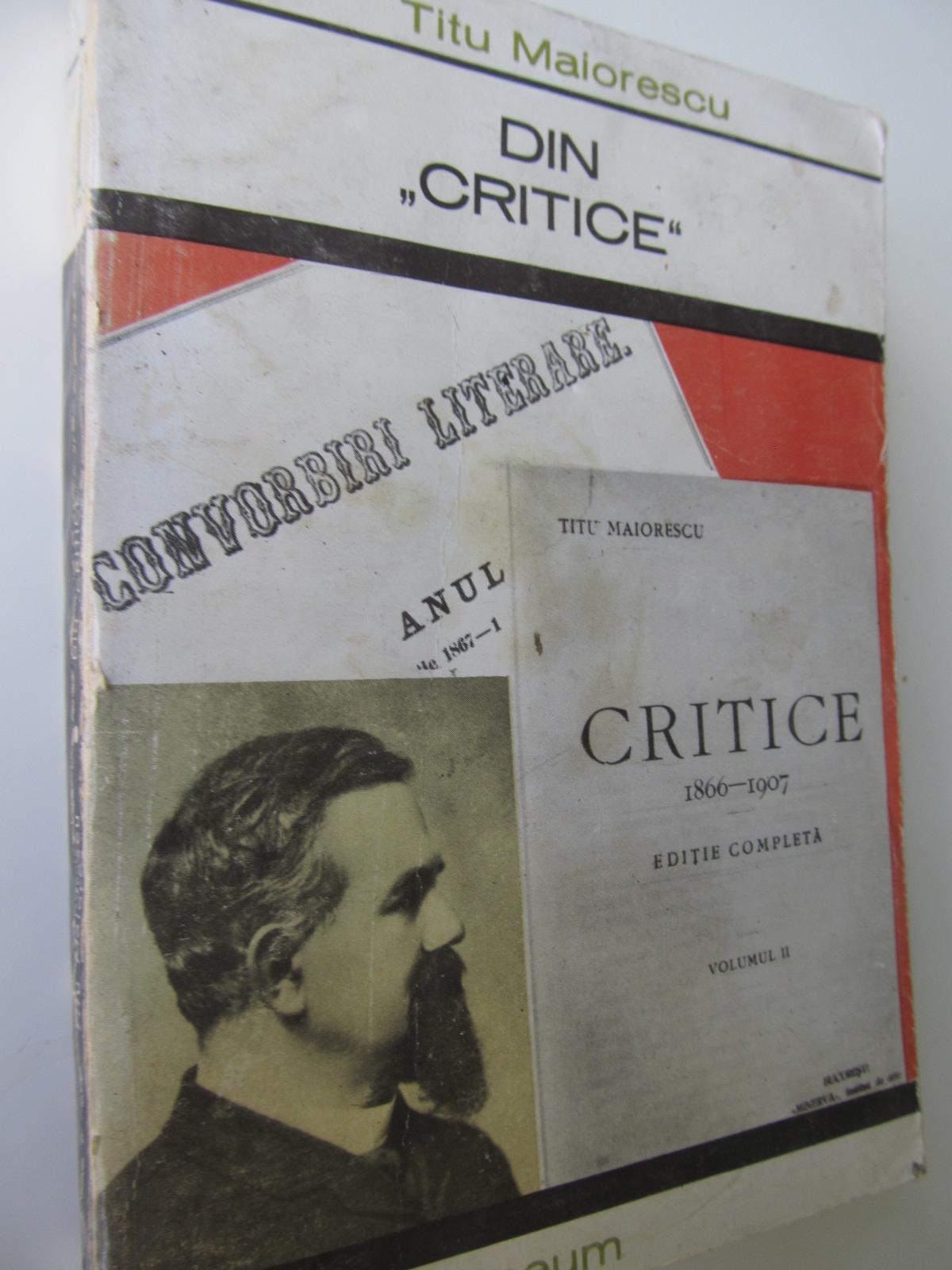 Din Critice - Titus Maiorescu | Detalii carte