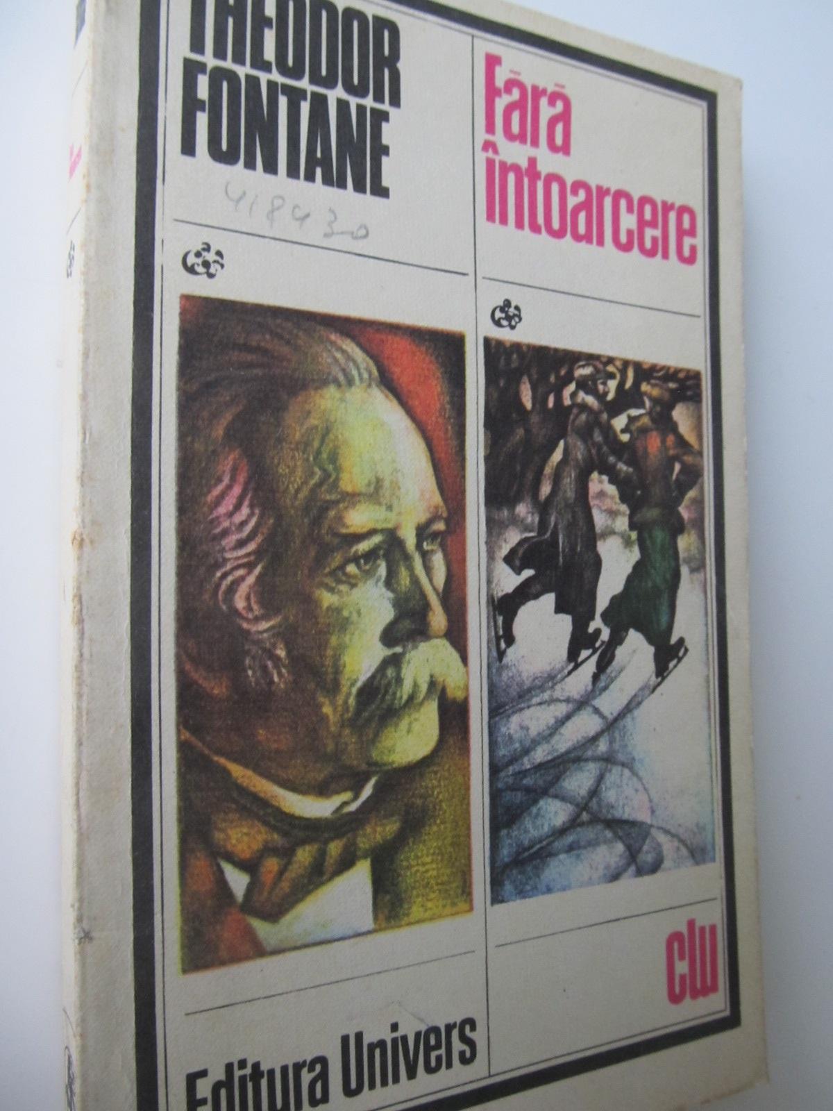 Carte Fara intoarcere - Theodor Fontane
