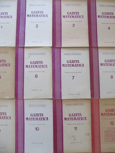 Gazeta matematica Nr. 1- 12 / 1975 (12 reviste) - an complet - *** | Detalii carte