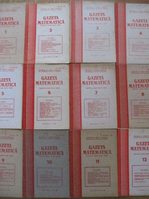 Gazeta matematica Nr. 1- 12 / 1980 (12 reviste) - an complet - *** | Detalii carte