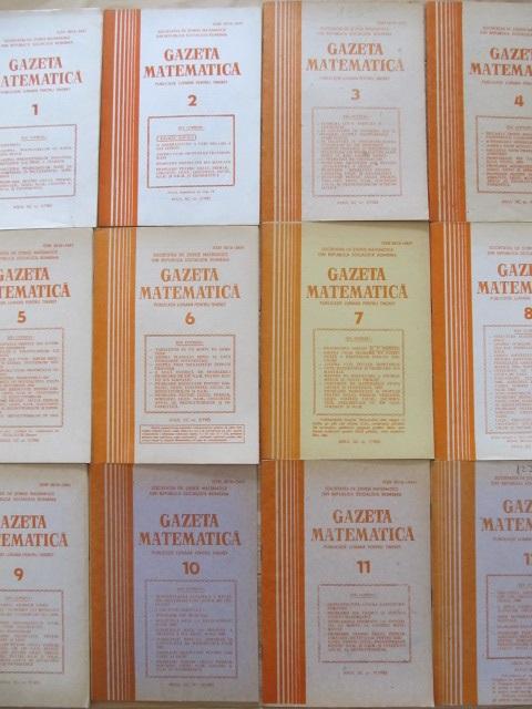 Gazeta matematica Nr. 1- 12 / 1985 (12 reviste) - an complet - ***   Detalii carte
