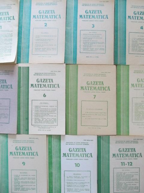 Gazeta matematica Nr. 1- 12 / 1986 (11 reviste) - an complet - *** | Detalii carte