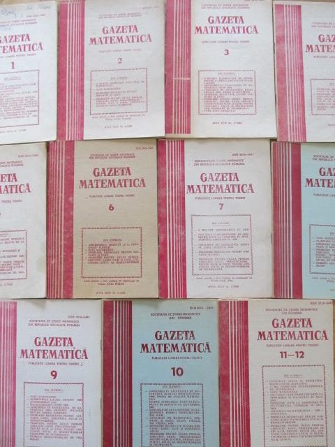 Carte Gazeta matematica Nr. 1- 12 / 1989 (11 reviste) - an complet - ***
