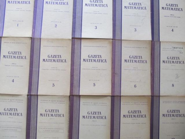 Gazeta matematica Nr.  1 , 2 , 3 , 4 , 5 , 9  / 1965 (6 reviste) - ***   Detalii carte