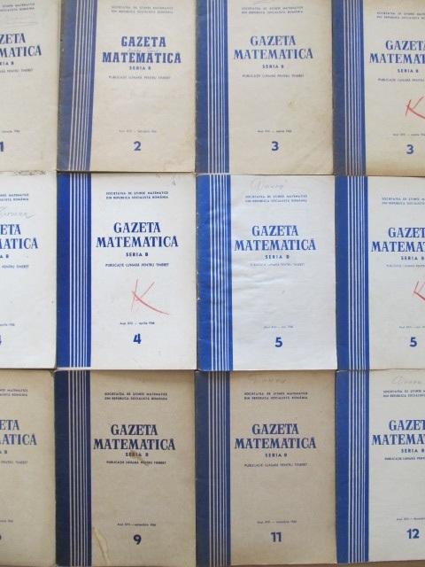 Gazeta matematica Nr. 3 , 4 , 5 , 5 , 6 , 11 , 12 / 1966 (7 reviste) - *** | Detalii carte