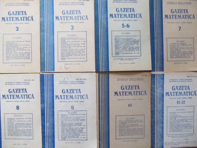 Gazeta matematica Nr. 2 , 3 , 5 - 6 , 7 , 8 , 9 , 10 , 11 - 12 / 1988 (8 reviste) - *** | Detalii carte