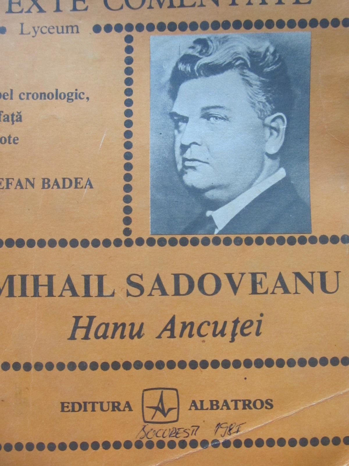 Hanul Ancutei - Mihail Sadoveanu | Detalii carte