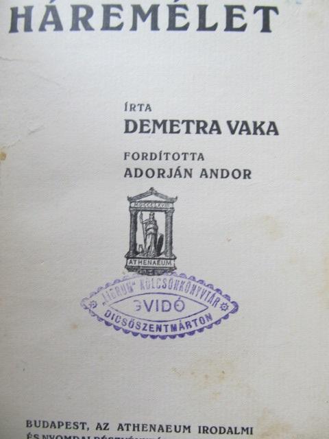 Haremelet - Demetra Vaka | Detalii carte