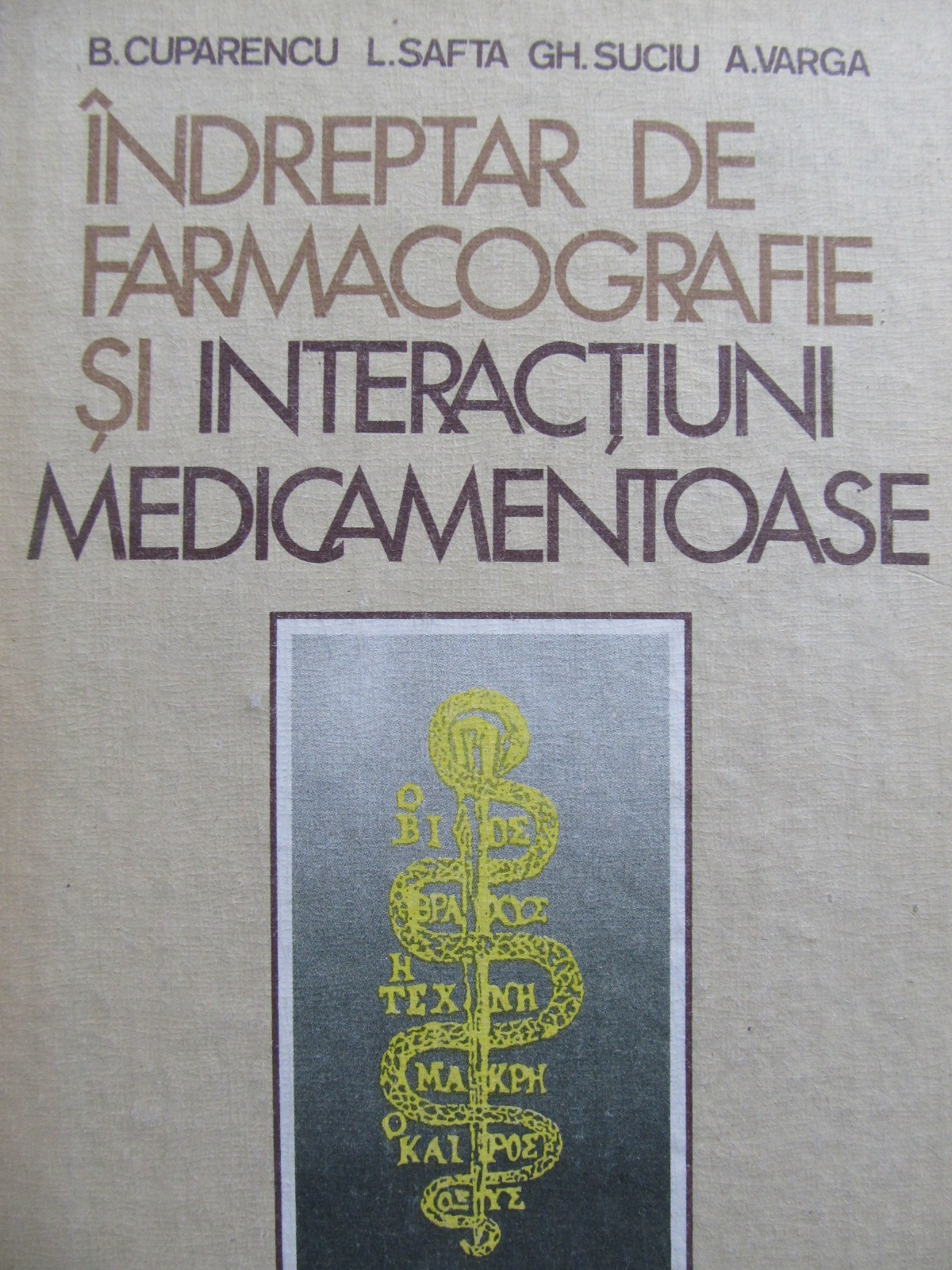 Indreptar de farmacografie si interactiuni medicamentoase - B. Cuparencu , ... | Detalii carte