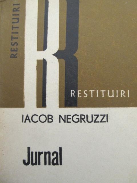 Jurnal - Iacob Negruzzi | Detalii carte