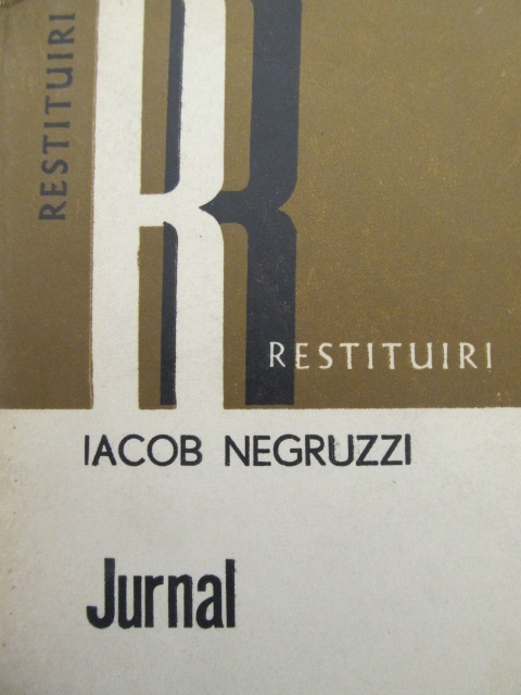 Carte Jurnal - Iacob Negruzzi