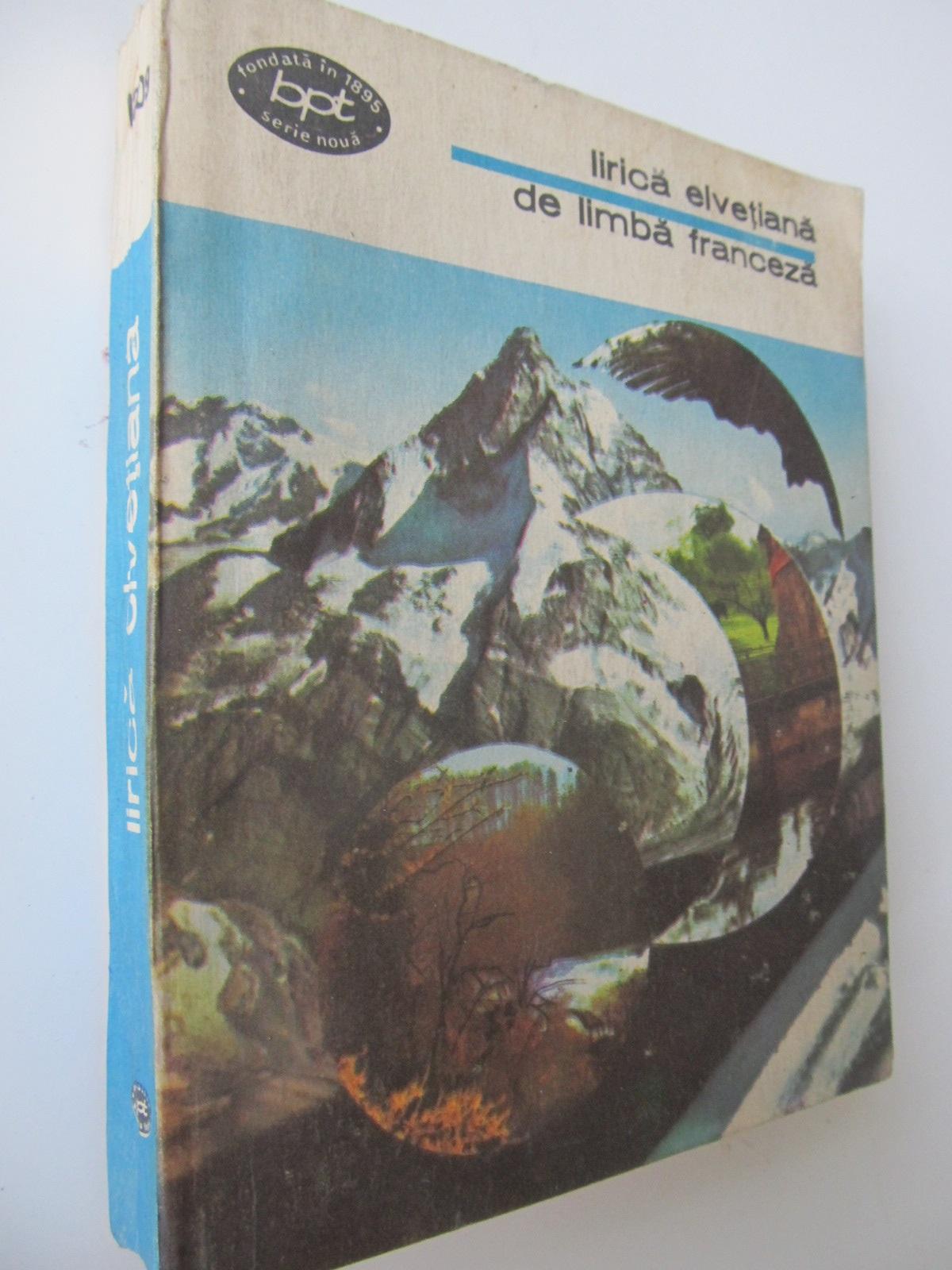 Carte Lirica elvetiana de limba franceza - ***