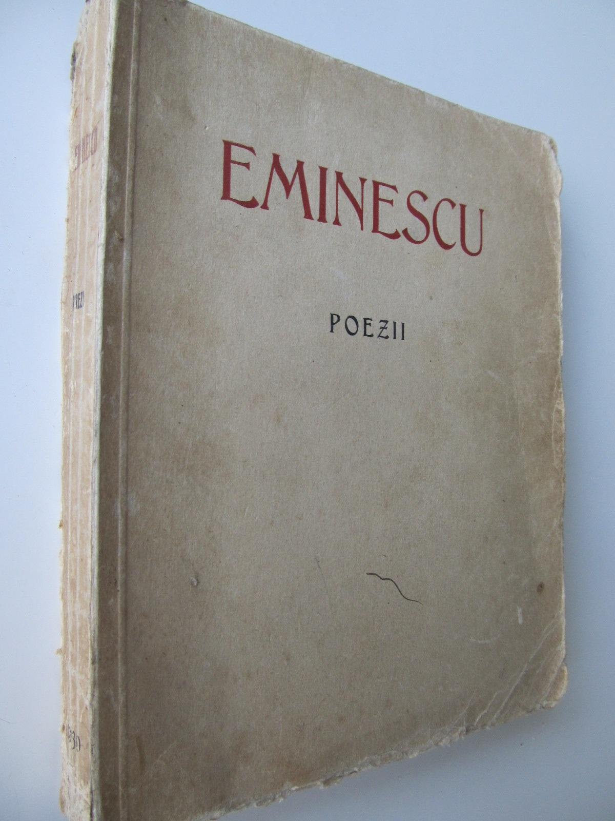 Carte Poezii , 1939 (editie omagiala a Mun. Bucuresti , cinci decenii de la moartea poetului 1889-1939) - M. Eminescu