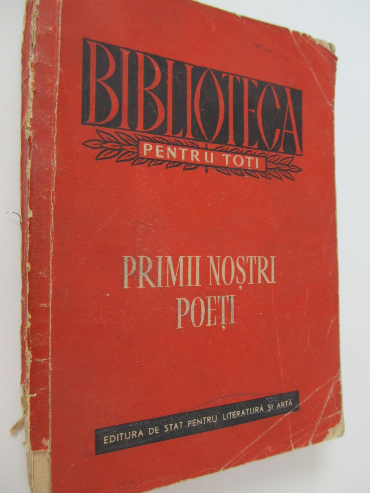 Primii nostrii poeti - *** | Detalii carte