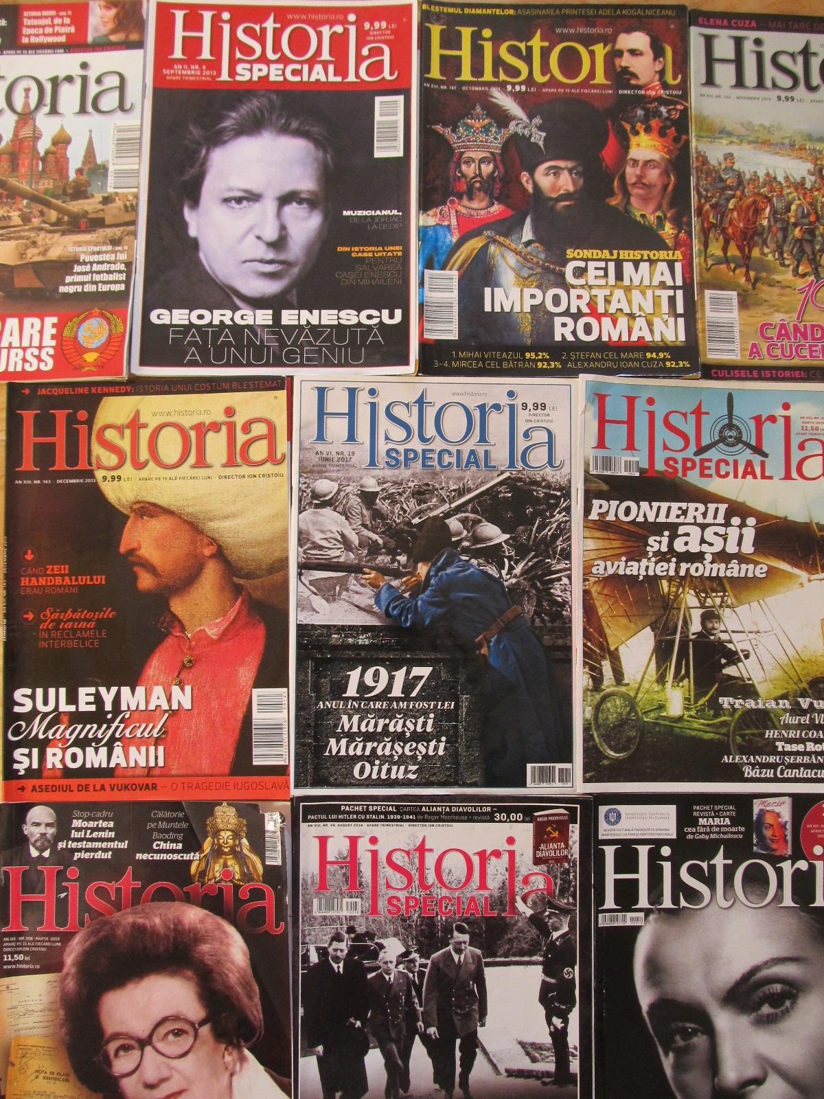 Revista Historia Nr. 116/2011, 141-143/2013 , 19/2017 , 26,28, 206,212/2019 (9 reviste) - *** | Detalii carte