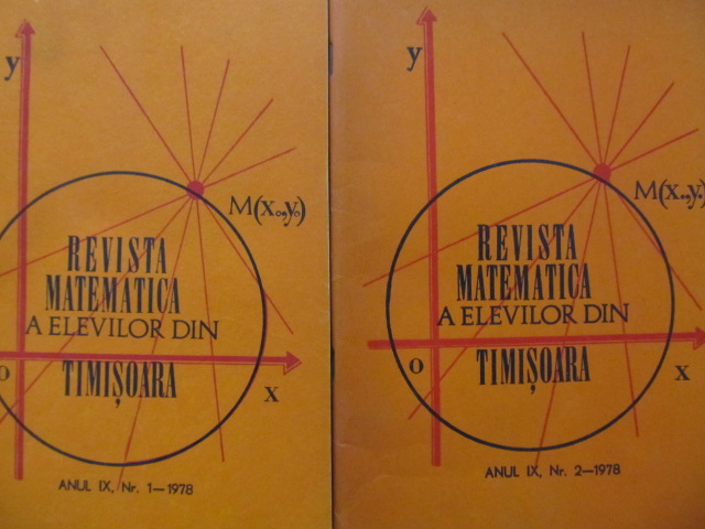 Revista matematica a elevilor din Timisoara Nr. 1 , 2 / 1978 (2 reviste) - *** | Detalii carte
