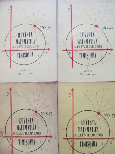 Revista matematica a elevilor din Timisoara Nr. 1 , 2 , 3 , 5/ 1971 (4 reviste) - *** | Detalii carte