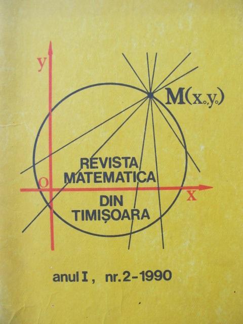 Revista matematica din Timisoara Nr. 2 1990 - *** | Detalii carte