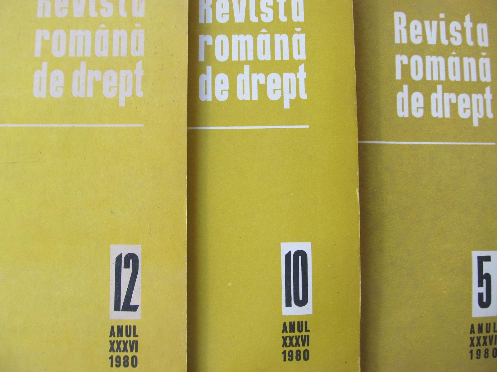 Revista romana de drept Nr. 5 , 10 , 12 / 1980 (3 reviste) - *** | Detalii carte