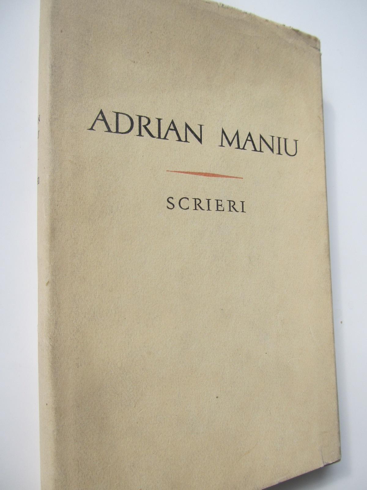 Scrieri 2 - Versuri - Adrian Maniu | Detalii carte