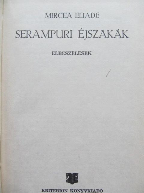 Serampuri ejszakak - Mircea Eliade | Detalii carte
