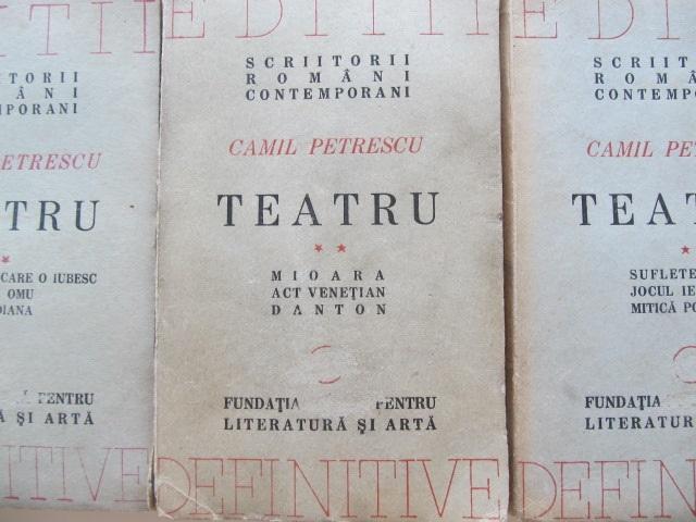 Teatru (3 vol.) , Colectia Editii defenitive , 1946 - Camil Petrescu | Detalii carte