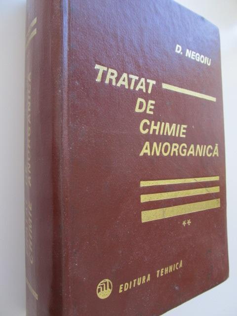 Tratat de Chimie Anorganica (vol.2) [1] - D. Negoiu | Detalii carte