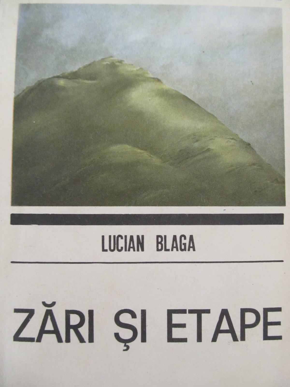 Carte Zari si etape - Lucian Blaga