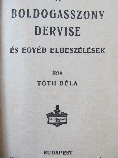 Carte A boldogasszony dervise - Toth Bela