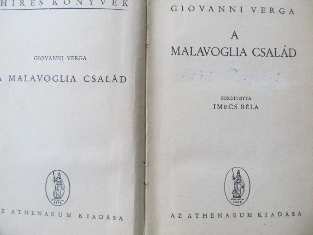 Carte A Malavoglia csalad - Giovanni Verga