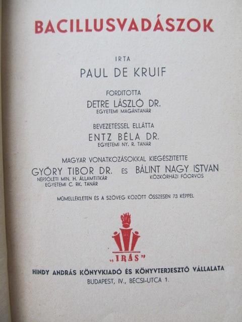 Carte Bacillusvadaszok - Paul de Kruif