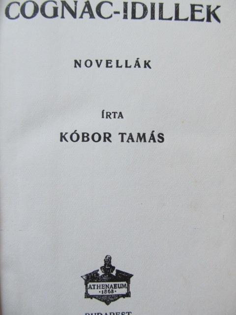 Carte Cognac Idillek (Novelak) - Kobor Tamas