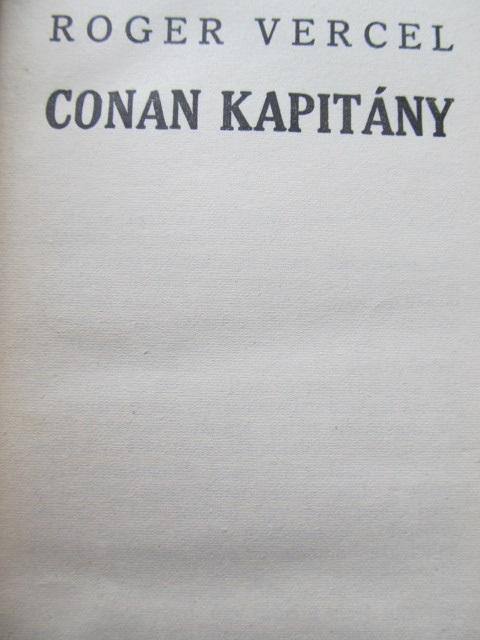 Carte Conan kapitany - Roger Vercel