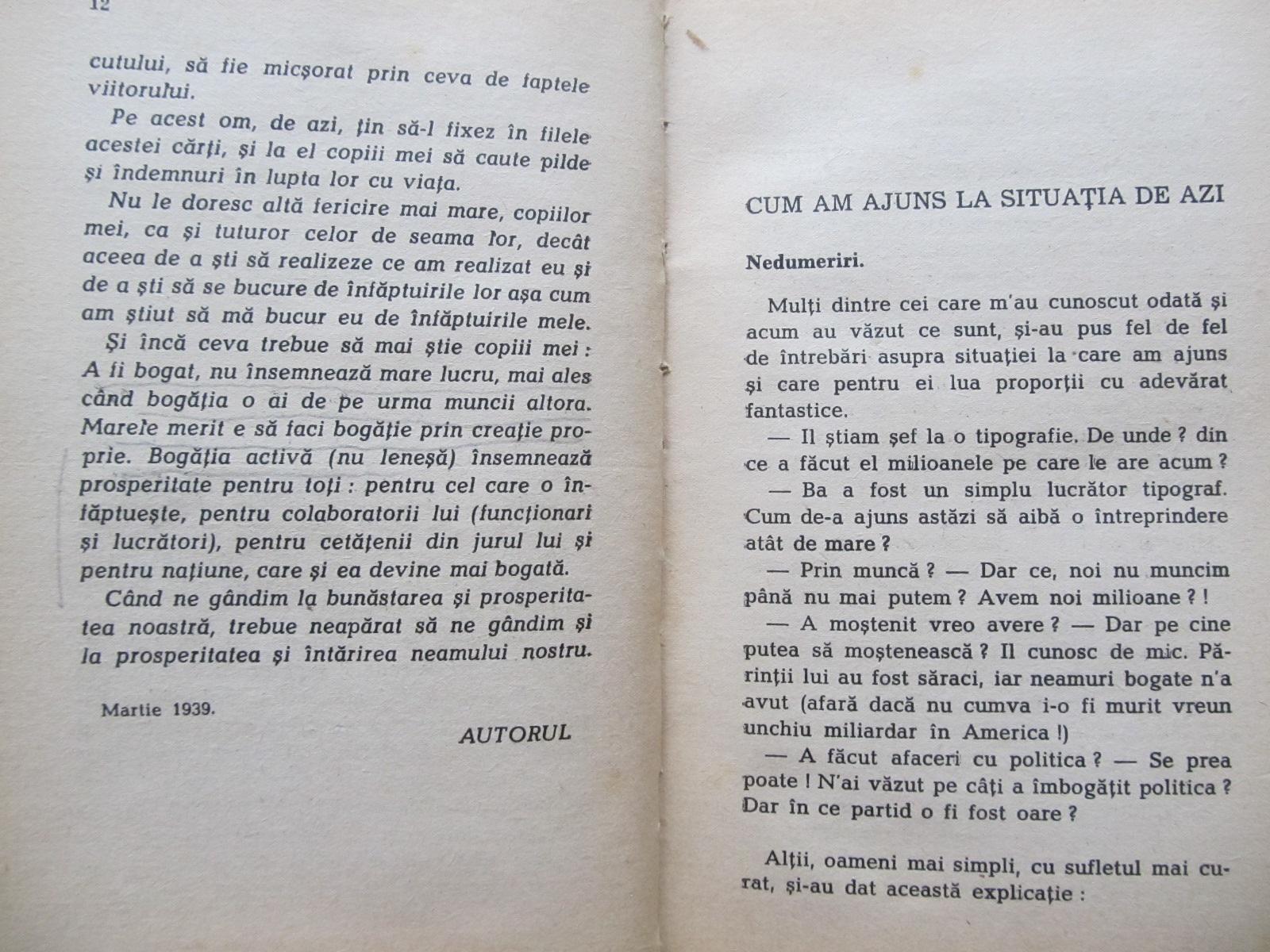 Carte Cum am cucerit viata , 1942 - Petre Georgescu Delafras