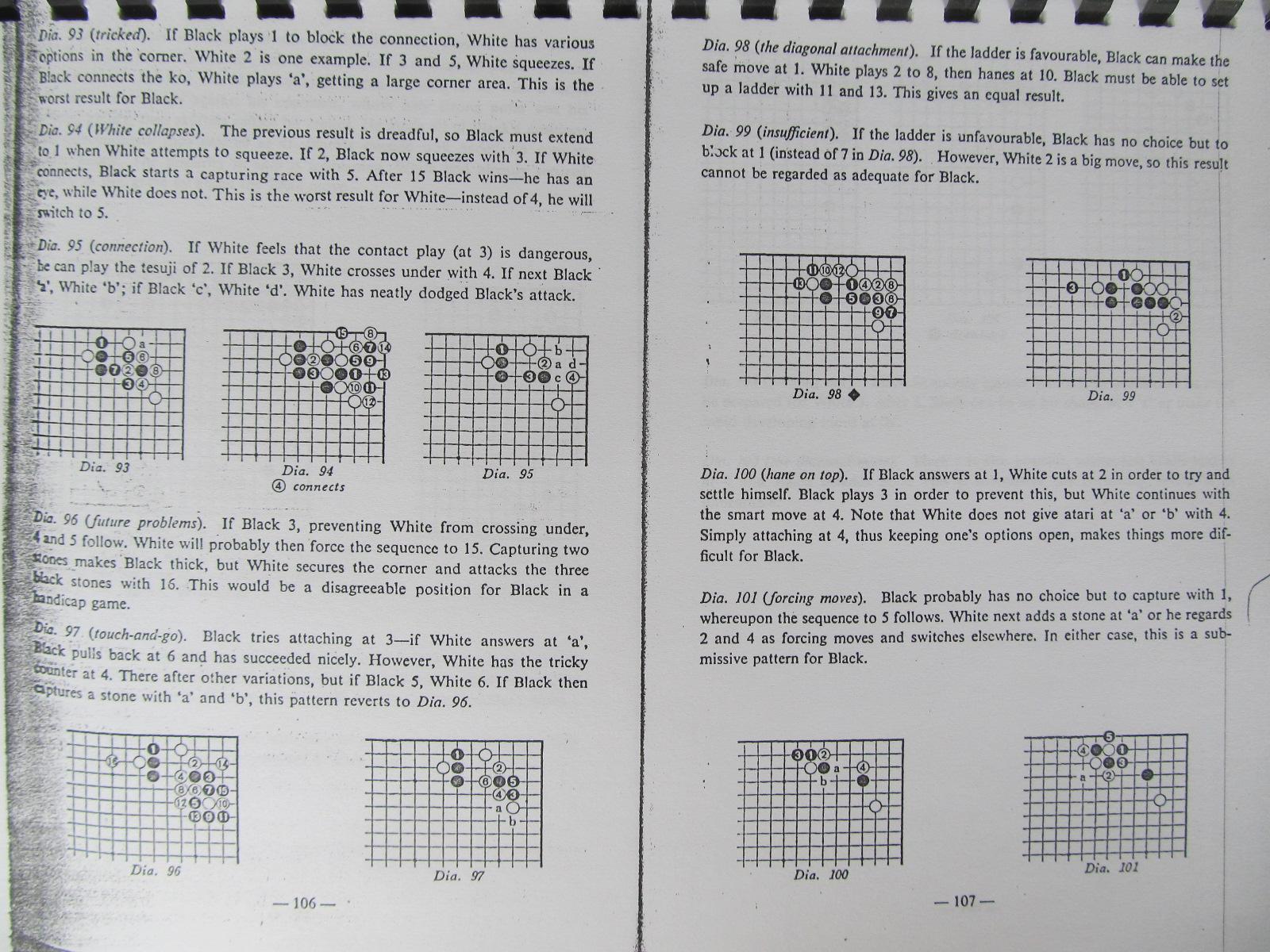 Carte Dictionary of basic Joseki , Vol. 3 - The 5-4 point , The star-point , the 3-3 point (Carte de Go xeroxata) - Yosihio Ishida