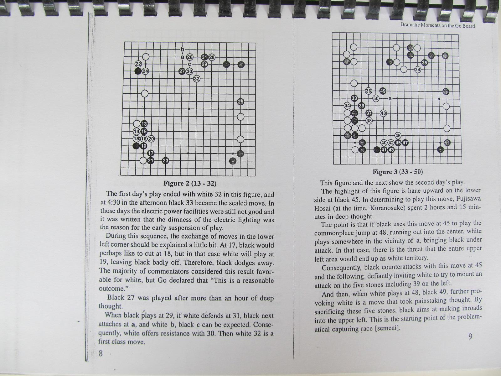 Carte Dramatic Moments on the Go Board (Carte de Go xeroxata) - Abe Yoshiteru