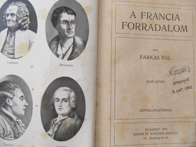Carte Forradalom es csaszarsag - A francia forradalom (vol. 1) - Farkas Pal