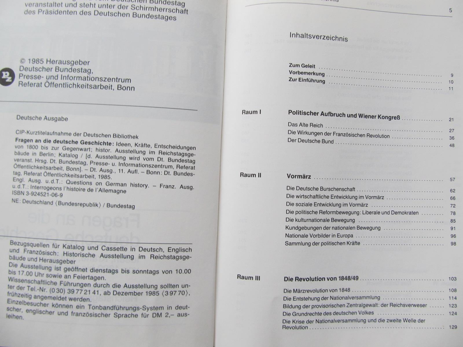 Carte Fragen an die deutsche Geschiste - ***