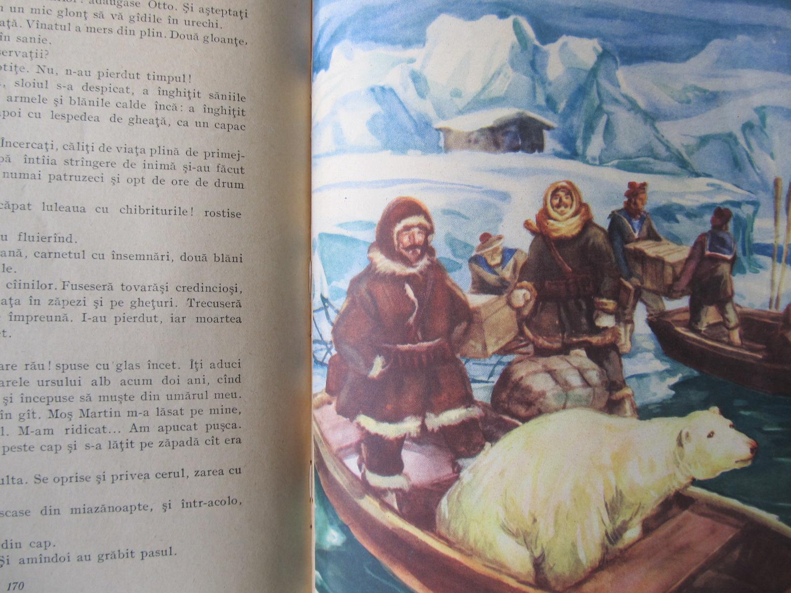 Carte Fram ursul polar (ilustr. N. Popescu) , 1955 - Cezar Petrescu