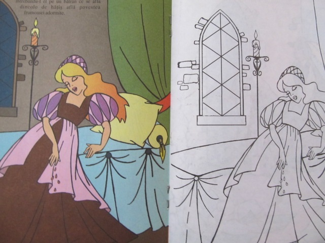 Carte Frumoasa adormita - carte de colorat - ***