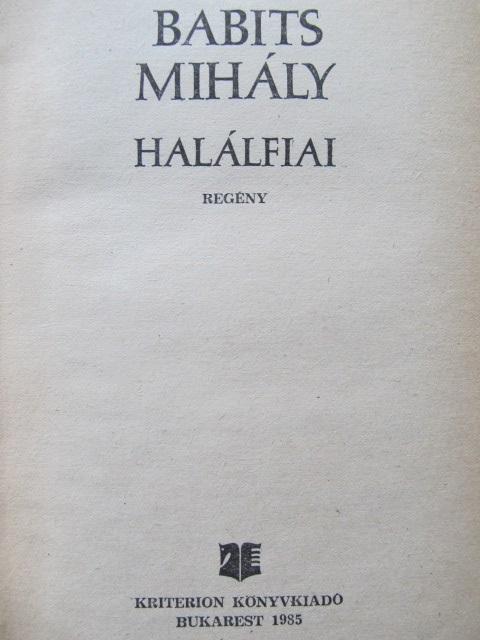 Carte Halalfiai - Babits Mihaly