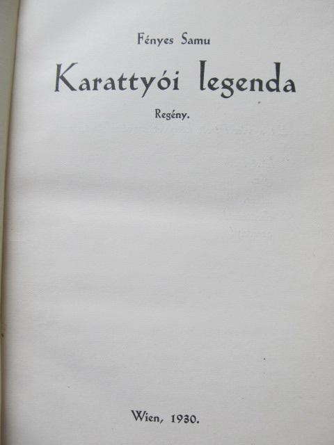 Carte Karattyoi legenda - Fenyes Samu